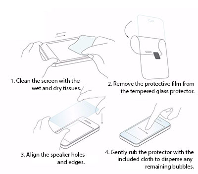 Tempered glass fitting instructions