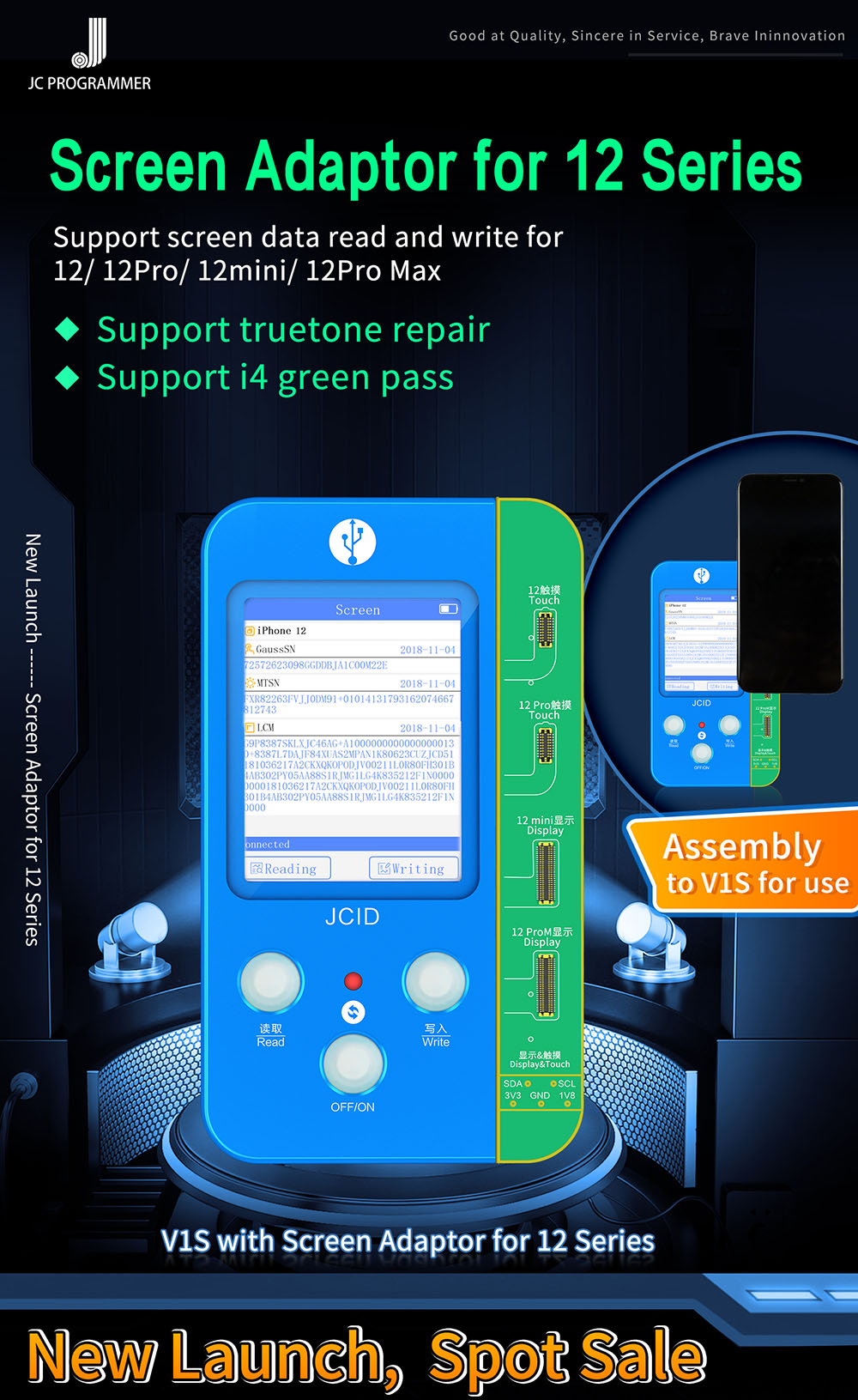 JC V1S iPhone 12 True Tone