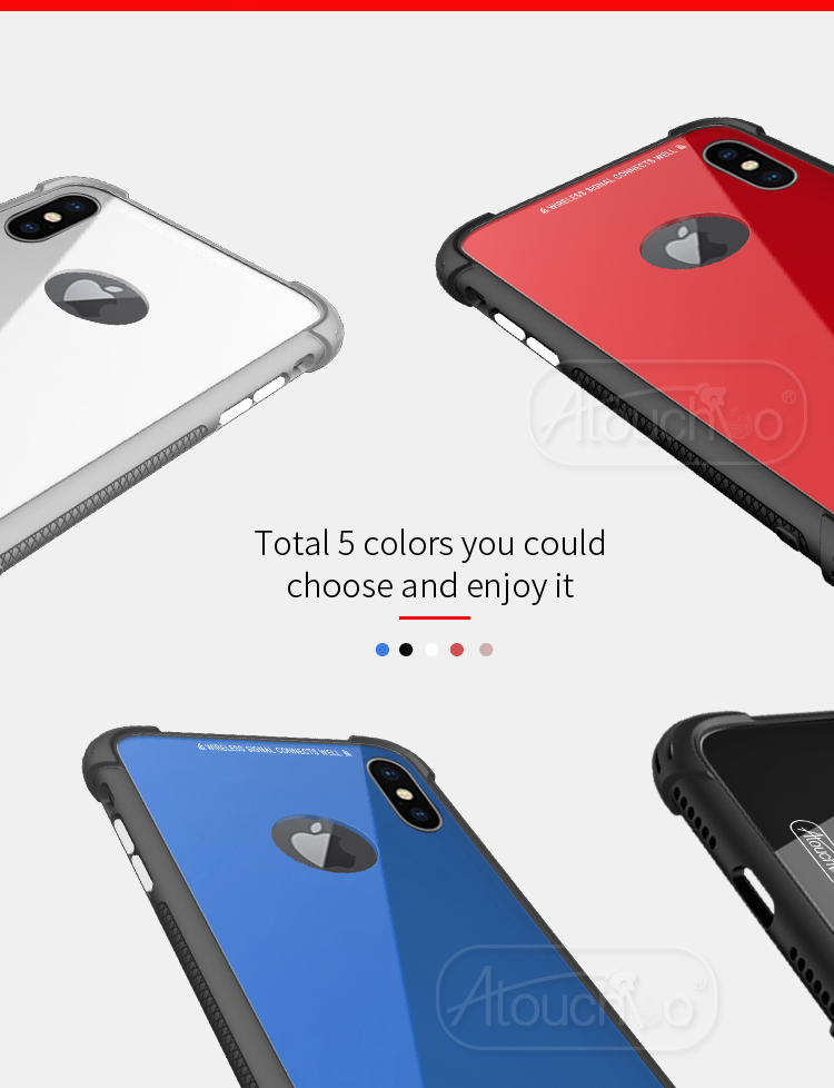 iPhone X King Kong Armor Shockproof Coloured Case - Wireless Charging Compatible